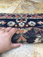 2' x 2'9 Persian Lilihan rug mat / small antique rug