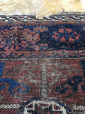2'3 x 2'9 Antique Baluch Rug mat / Small  Rug (#647)