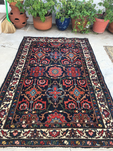 4'4 x 6'8 Persian Bibikabad Rug / 4x7 Persian rug (#768ML)