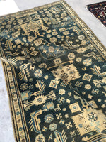 3'8 x 6'9 Antique Tribal Caucasian Rug / Small vintage rug (#760)