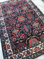 "4'4 x 6'10"" Persian Bibikabad Rug / 4x7 Persian rug (#761ML)"