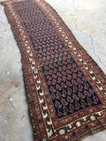 3'5 x 11'6 Antique Persian Malayer runner (#532)