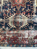 7'9 x 11'2 Antique Persian Heriz Rug