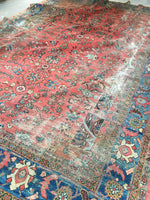 9' x 12'7 Love Worn Antique Persian Mahal Rug (#1451)