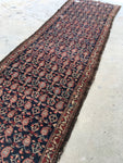 3'7 x 12'2 Antique Persian Malayer Runner / Rug Runner /  12' Vintage Runner (#766ML)