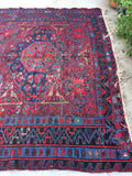 7'8 x 12'4 Antique Soumak Flat weave Rug