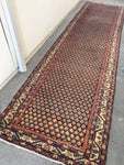 3'6 x 12'9 Antique Runner / Rug Runner / 13 foot Persian runner