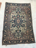 3'2 x 4'11 antique Persian Ferahan Sarouk (#896ML)