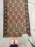 2' x 10'7 Skinny Antique Karabagh Runner (#1455ML)