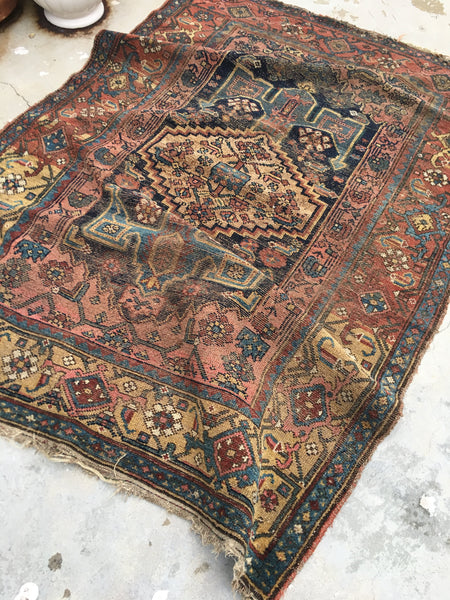 4'1 x 6'2 Antique Malayer Rug