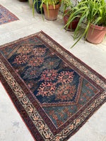 3'9 x 5'8 Antique Persian Malayer (#1623) / 4x6 Vintage Rug