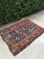 3'2 x 4'3 antique Caucasian Prayer rug (#900ML)