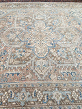 8'4 x 11'4 Muted Persian Heriz Rug (#1462) / 8x11 Large Vintage Rug