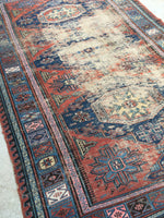 5x8 Antique Soumak flat weave rug