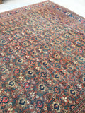 10'6 x 13'2 Large Antique Persian Mahal Rug