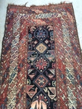 3'10 x 8'9 tribal antique Kurdish Rug