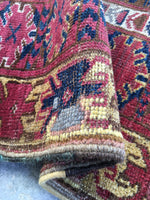 5'4 x 10'3 tribal antique Afghan Beshir Rug