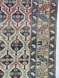 "3'9 x 4'8 Antique ""ombre"" Caucasian rug (#919)"
