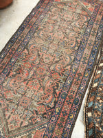 3'1 x 8'5 love worn antique Kurdish Rug