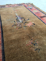 3'1 x 4'10 antique Chinese Peking rug (#774)