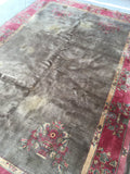 6'1 x 9'1 antique Chinese Rug / 6x9 Rug / Large vintage rug (#1106)
