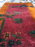 2' x 3'9 antique Chinese Art Deco Rug (#776)