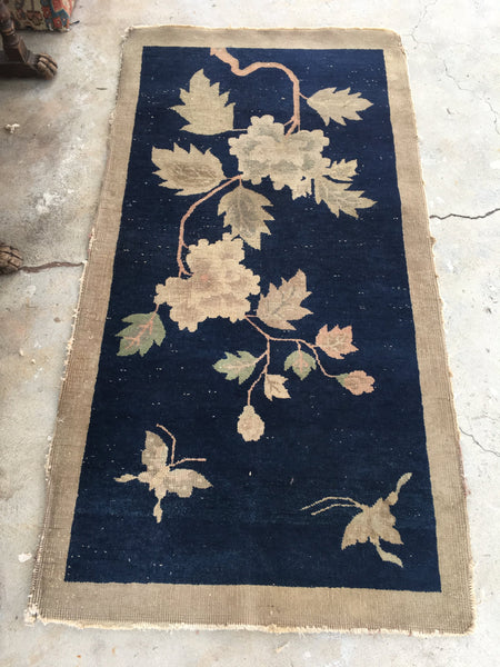 2'7 x 4'10 antique Chinese Art Deco Rug (#1120)
