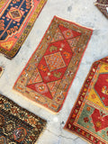 1'8 x 3'2 Antique Anatolian Turkish scatter rug (#942ML)