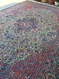 10'2 x 14'6 antique Persian Tabriz Rug / Large Vintage Rug