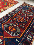 1'7 x 3'6 Small Kurdish Rug / small vintage rug / scatter rug (#949ML)