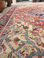 7'6 x 11' Worn to Perfection Persian Heriz Rug