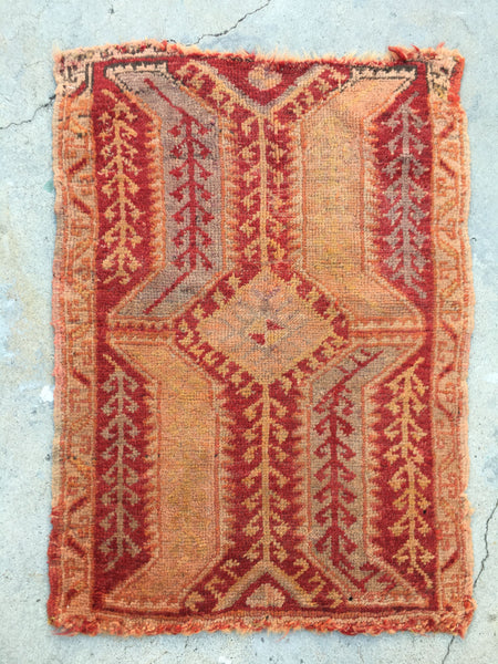 1'9 x 2'5 Antique Turkish Rug / small vintage rug / scatter rug (#950ML)