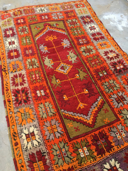 3'10 x 6'9 Antique Turkish Rug (#954ML)