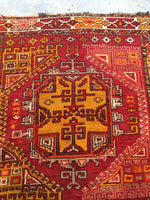 5 x 5'2 Antique Turkish Anatolian Rug (#955ML)