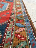 3'3 x 14 Antique Bakshayesh Tribal Runner