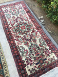 2'8 x 6'6 Antique Ivory Persian Runner (#957)