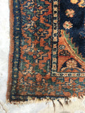 3'3 x 6'4 antique Kurdish rug / small 4x6 rug