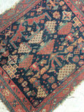 1'10 x 2'3 antique Persian Afshar mat / scatter rug (#966)