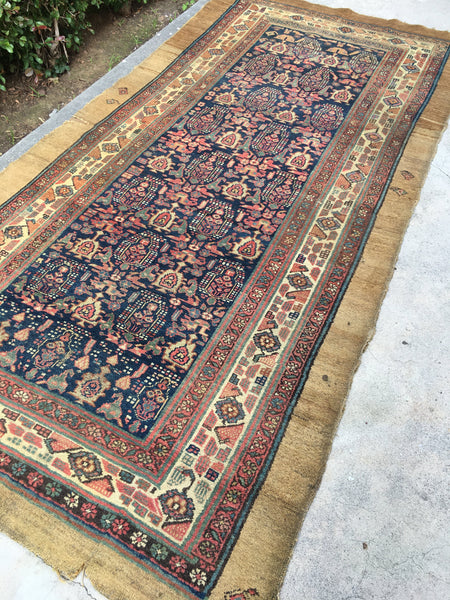 5x9 antique Persian camel hair Serab rug (#968)
