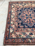3'6 x 6'7 antique Malayer Rug (#577)