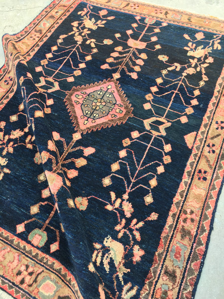 4'5 x 6'7 antique Malayer rug