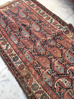 4x10 antique Kurdish rug