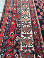 5' x 6'7 antique Persian Malayer / Small Vintage Rug / 5x7 vintage Rug (#1158ML)