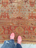 10'8 x 12'10 Antique Turkish Oushak Rug (#866ML)