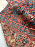 3'5 x 13'4 Antique Runner / Rug Runner / 13 foot Persian runner / Kurdish Bidjar