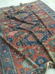 7'9 x 8'7 Antique Soumak Flatweave Rug