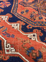 9'5 x 13'1 Antique Soumak Flat weave Rug