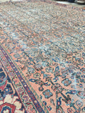 8'7 x 12'2 love worn antique Persian Mahal Rug (#624)