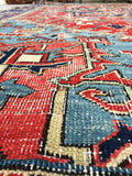 8'5 x 11'9 Antique Persian Heriz with French Blue (#1506) / 9x12 vintage rug