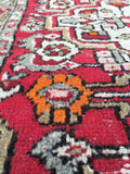 2'2 x 3'10 Antique Hamadan Rug / Small Antique Rug (#795)